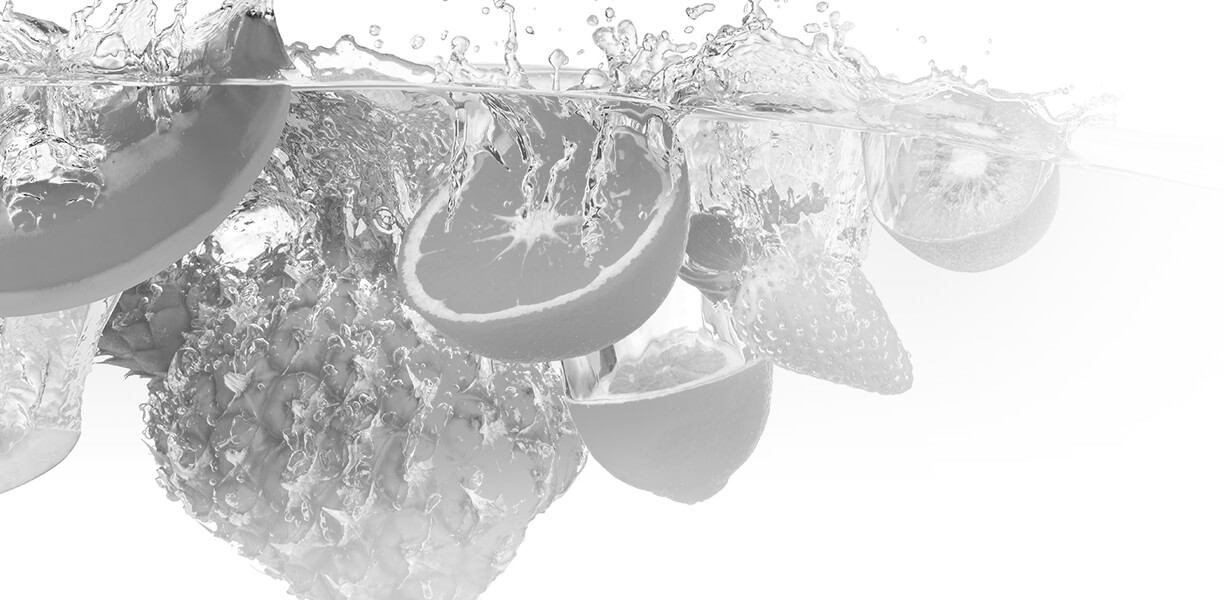 fruit in water background